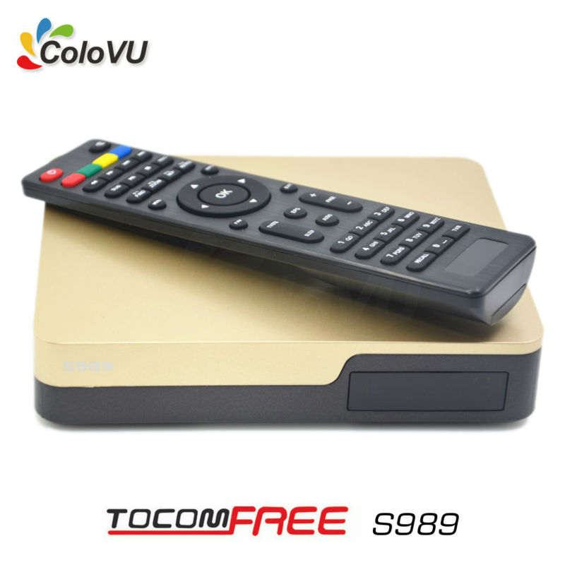 Satellite Receiver Tocomfree S989 with Free IKS SKS IPTV TV Box for Brazil Chile Peru Argentina Colombia Bolivia South America 140 190km h double antenna isdb t full seg mobile digital tv box car tv receiver for brazil chile argentina peru japan