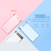 Teclast 20000mAh Power Bank 2 Output Lightning&Micro USB Dual-Input Mobile Battery for iPhone Android External Battery LED Light