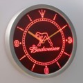 Nc0486 Budweiser Exotic Dancer Stripper Neon Zeichen LED Wanduhr-in Wanduhren aus Heim und Garten bei