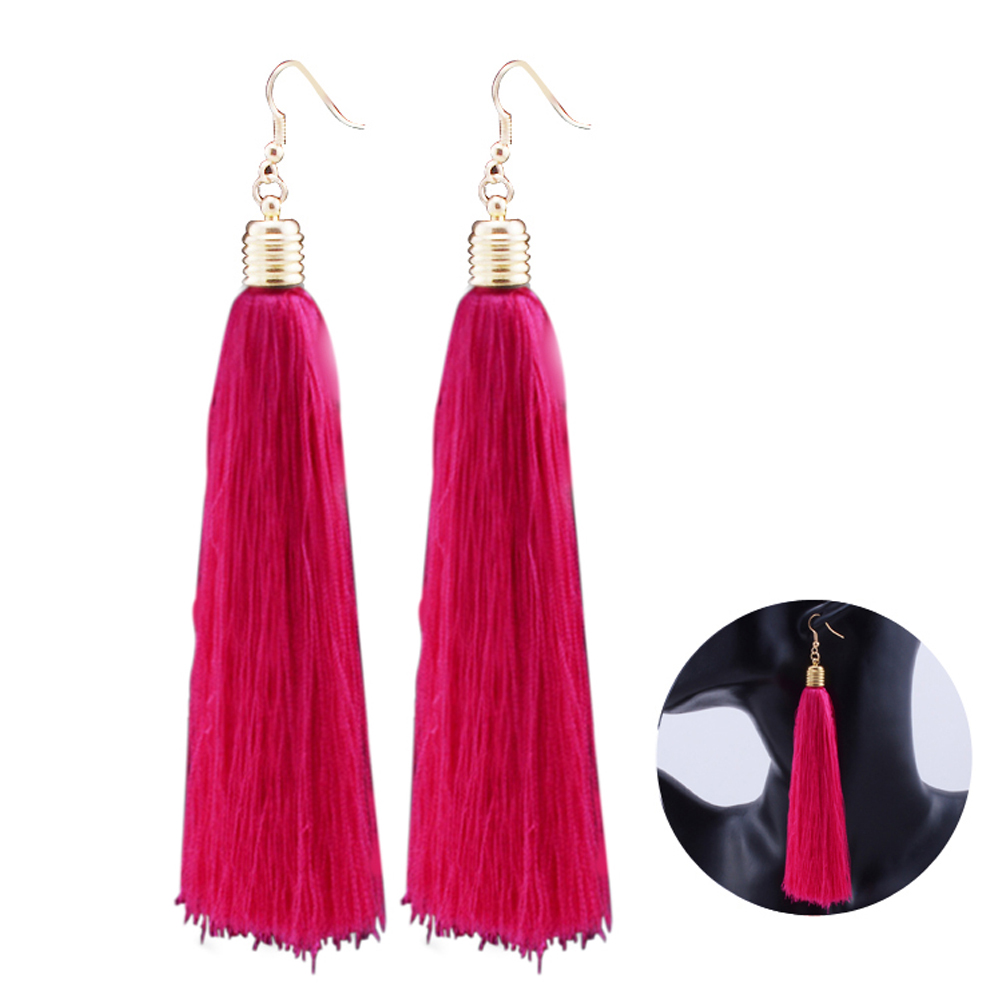 Doelstelling Pixnor Bohemian Lange Tassel Oorbellen Fringe Eardrop Boho Etnische Dangle Earring Vintage Sieraden Voor Vrouwen Dames Decor Elegant En Sierlijk