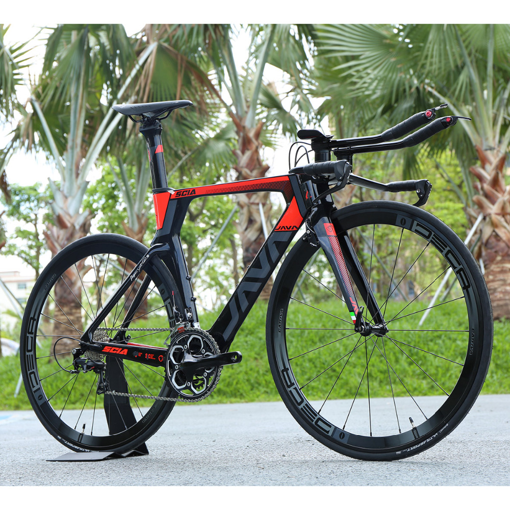JAVA SCIA TT Carbon Road Bike 105 5800 Group 500 Crankset Aluminium Wheels 22 speed Direct Mount Brake 700c Triathlon Bicycle 2018 anima 27 5 carbon mountain bike with slx aluminium wheels 33 speed hydraulic disc brake 650b mtb bicycle