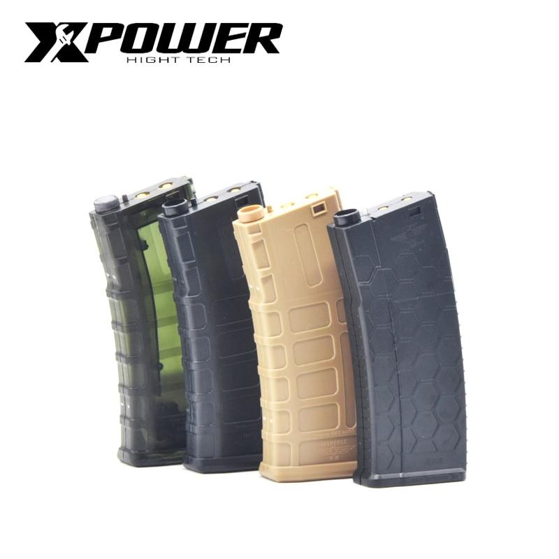 XPOWER  Airsoft Air Guns Gel BallMagzine For AEG  Maopul Receiver Bb Loader Speed Loader Tactical Air Gun Paintball Accessories