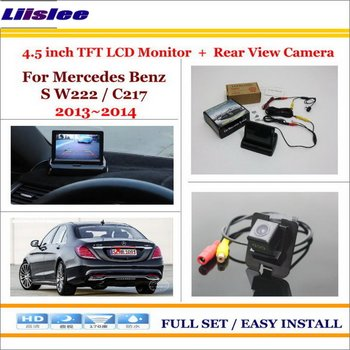 "For Mercedes Benz S W222/C217 2013~2014 Rearview Camera Back Up & 4.3"" LCD Monitor Screen Parking Assistance System"