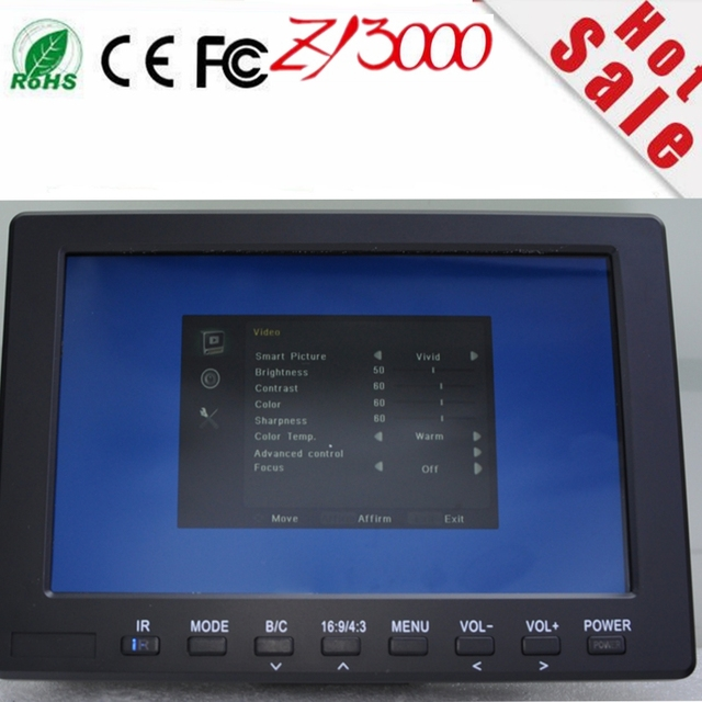 stock new 10.1 inch  IPS  HDMI HD 1280*800 field  Peaking Filter 5D II DSLR Camera Mode full hd dslr lcd monitor