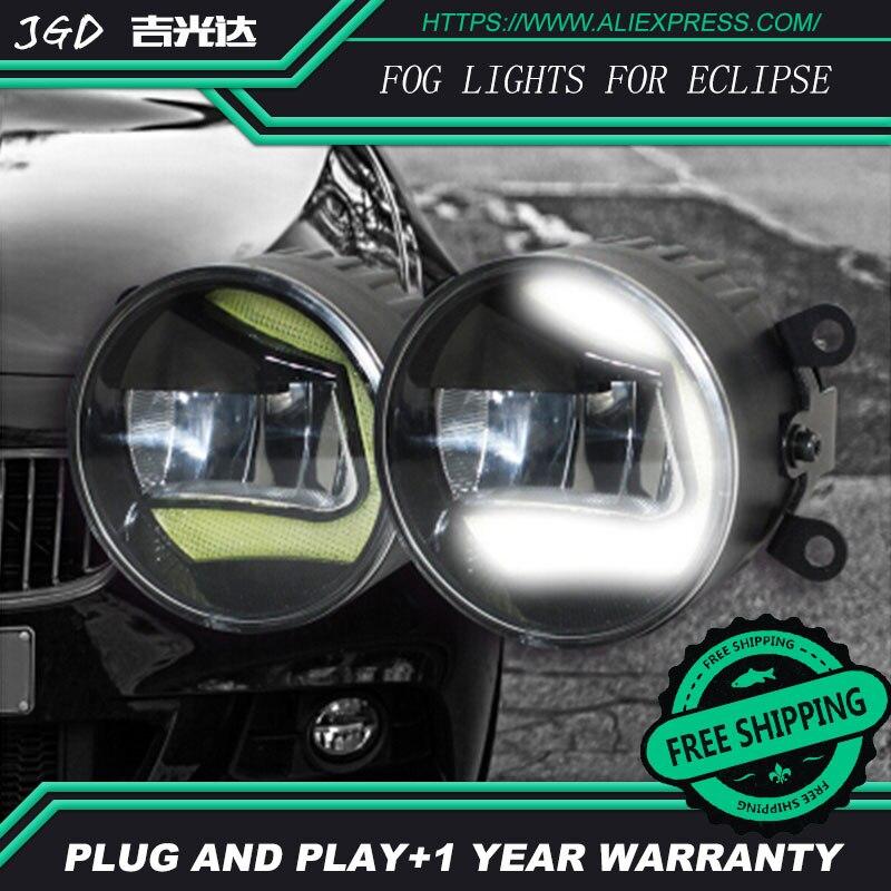 For Mitsubishi Eclipse 2008 2009 LR2 Car styling front bumper LED fog Lights high brightness fog lamps 1set