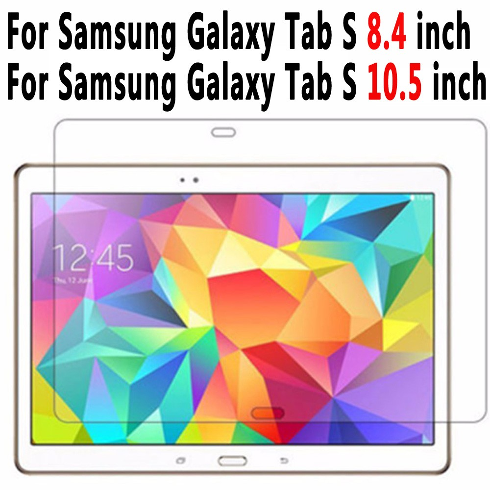 Tempered Glass For Samsung Galaxy Tab S 10.5 T800 T805 Tempered Glass For Samsung Galaxy Tab S 8.4 T700 T705 Screen Protector