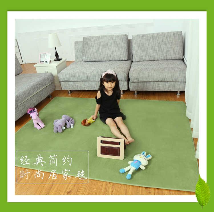LIU 14 colorscoral бархатистый коврик fuzz face татами гостиная, Спальня прикроватный ковер покрыты ребенка ползать коврик