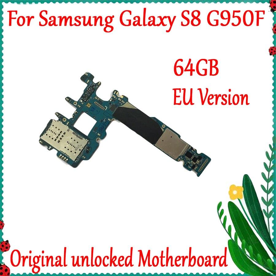 Nouveauté carte mère pour Samsung Galaxy S8 G950F carte mère déverrouillée d'origine avec carte mère IMEI Android OS