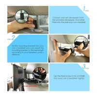 10.1 Inch Ultra thin Car Headrest DVD Player 1024*600 Support Power off Memory Function with OSD Display & Remote Control