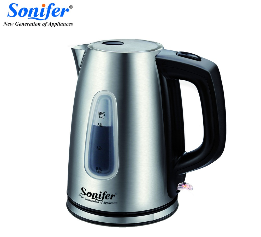 1.7L Stainless steel Electric Kettle Scale Wndow 1850W Household 220V Quick Heating Electric Boiling Pot Sonifer 220v 600w 1 2l portable multi cooker mini electric hot pot stainless steel inner electric cooker with steam lattice for students