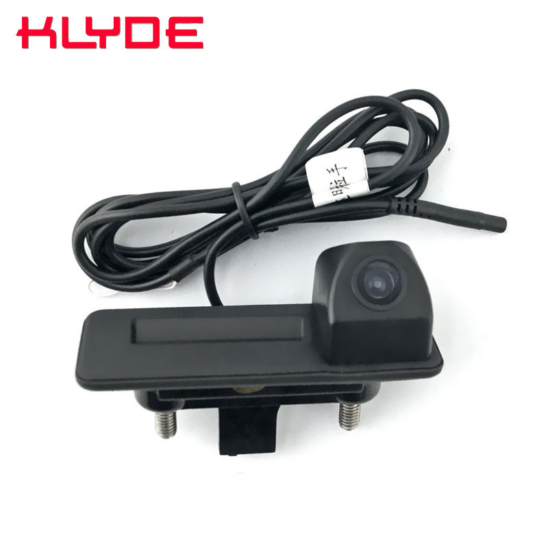 Auto Trunk Handle Car Rear View Reverse Backup Parking font b Camera b font For Skoda