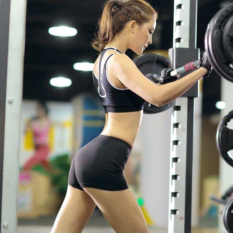 Prix pour Femme fitness sport formation shorts sec femelle stretch de course pantalon court sexy mini slim gym pantalon vêtements d'entraînement
