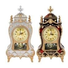 Relojes de alarma de escritorio clásicos para sala de estar, gabinete de TV, escritorio Imperial, mobiliario creativo, reloj Retro de péndulo