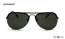 CONWAY new fashion sunglasses womens brand luxury  eyewear polarized lens men sun glasess retro classic glasses metal lady frame