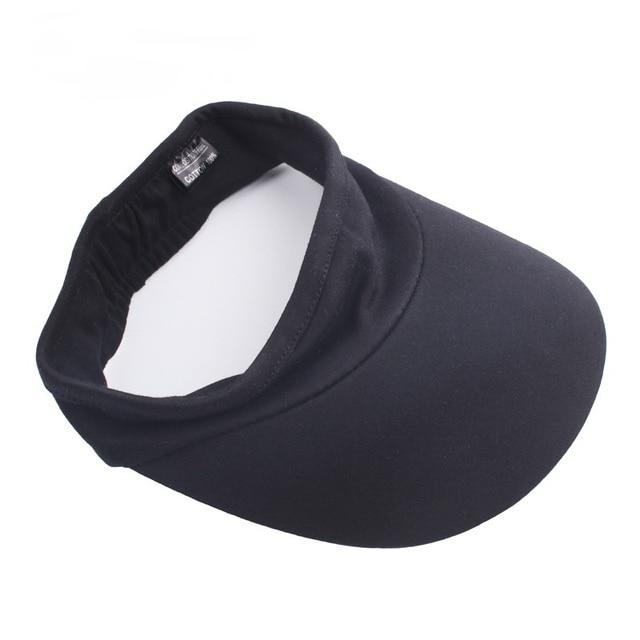 ffb8f06dc1d Summer Visor Sun Hat With Elastic Band Brim Blank Cotton Cap Empty Top Hats  anti-