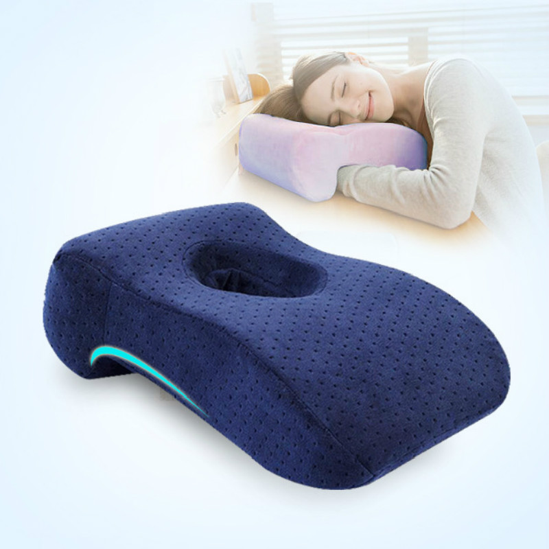 office lunch desk break pillow slow rebound table pillow with a hole pillow dakimakura student breathable nap pillow yb13