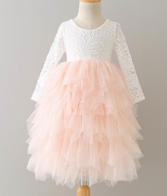 70c117f56b533 2017 automne nouvelle fleur fille princesse robe dentelle à plusieurs  niveaux Tulle tutu robe pour la fête de mariage enfants vêtements enfants  vêtements ...