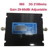 29-60dBi Регулируемая функция ЖК-дисплея 3g усилитель 3g 2100 МГц Booste 3g ретранслятор 27dbm WCDMA усилитель ретранслятор сигнала мобильной связи