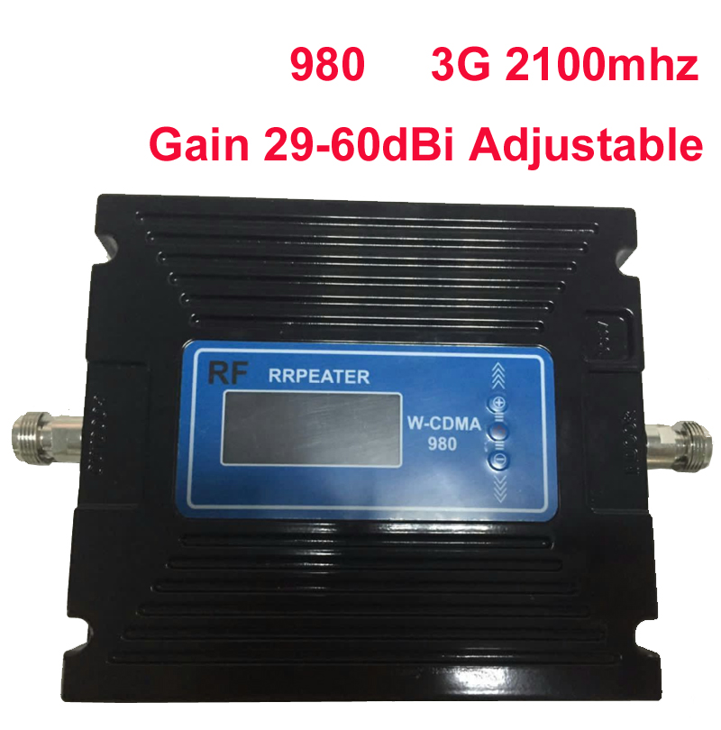 29-60dBi Adjustable LCD Display Function 3G Booster 3G 2100Mhz Booste 3G Repeater 27dbm WCDMA Booster Mobile Phone Repeater