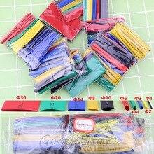 410 шт. комплект изоляционных втулок для обертывания проводов, втулок для проводов, набор покрытий для труб, набор полиолефиновых термоусадочных труб