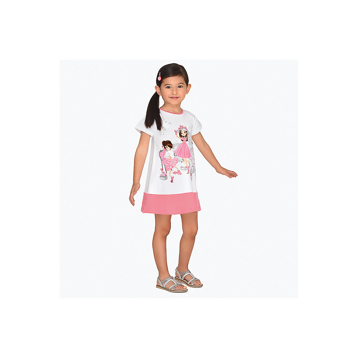 Фото - Dresses Mayoral 10693342 Casual dress with short sleeves sundress for girls women casual short has