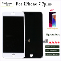 Moymax AAA 5pcs Lot For Iphone 7 7p No Sports Replacement Touch Screen Digitizer Black White