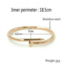 ANILLO Men Women Open Cuff Bangles Classic Brand Rose Gold Stainless Steel Love Couple Bracelets Jewelry