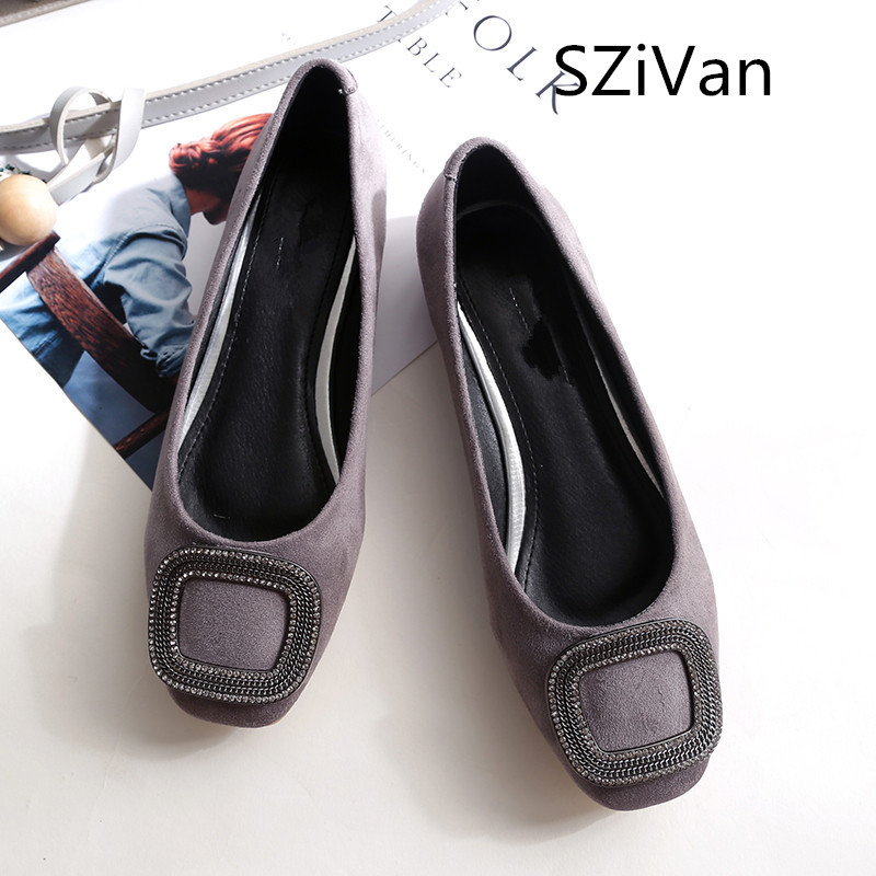 SZiVan Women Shoes Ladies Shoes Shallow Ballet Flats Woman Casual Shoes Fashion Sapato Zapatos Mujer Womens Loafer Slip on Flats brand women shoes flats slip on woman foldable ballet flats square toe casual ladies chain single shoes zapatos mujer plus size