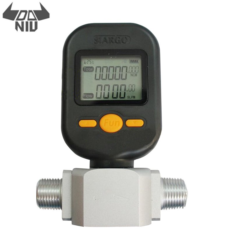 DANIU New Portable MF5712 Flow Meter 200L/min Digital Gas Air Nitrogen Oxygen Mass Flow Meter Rs485 Modbus Protocol