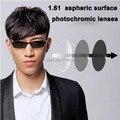 Я-яркий 2 шт./пара высокое качество 1.61 асферические фотохромные линзы близорукость рецепту изменение цвета очки линзы