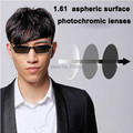 I-bright 2pcs/pair high quality 1.61 aspheric photochromic lenses myopia prescription color changing eyeglasses lenses