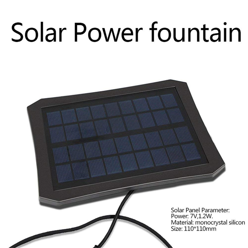 LED Colorful Solar Power Fountain Water Pump Lake Park DC Brushless Battery Pump Light Landscaping Fountain Clean Water Pump