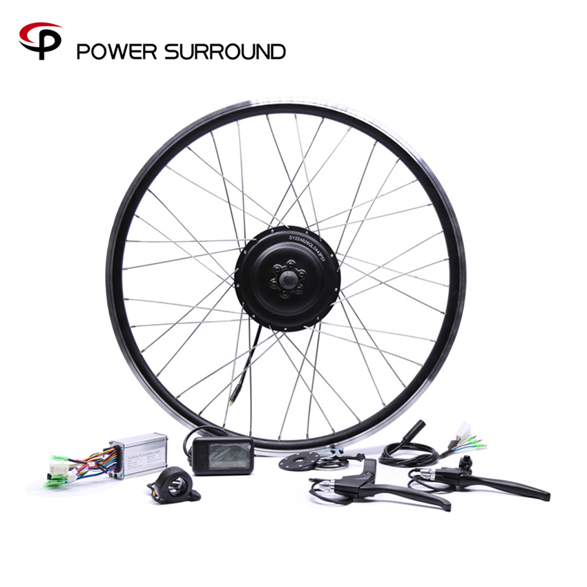 Elettrico Della Bicicletta Bicicleta 36v350w Anteriore/posteriore Della Bici Elettrica Kit di Conversione Brushless Hub Motori 20 ''26'' 28''