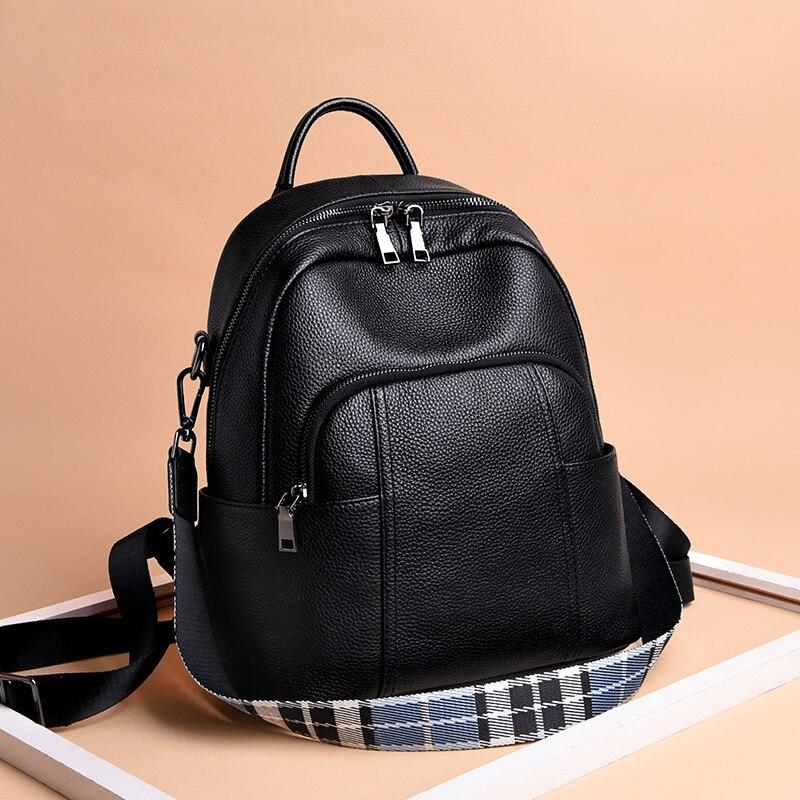 Cuir de vachette luxe sac à dos sac à main voyage en cuir véritable sac à dos mode nouveau Mochila femmes sac à dos sac d'école