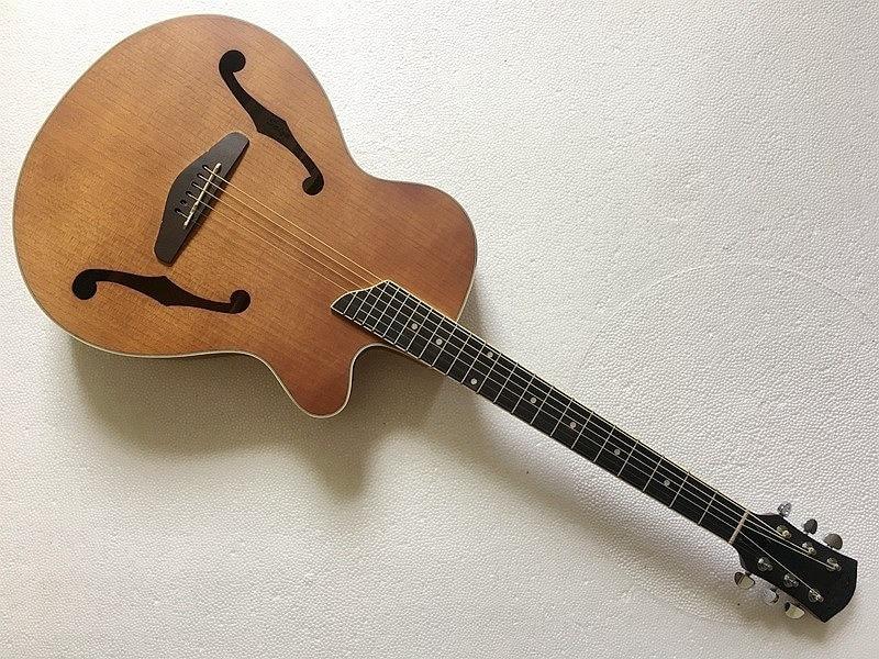 Guitare électrique acoustique jazz f hole de haute qualité