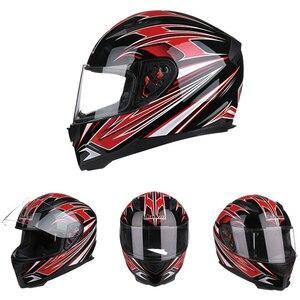 Image 5 - גברים של 313 אופנוע קסדת פנים מלאים חורף חם scraf מנוע אופני Moto קטנוע אופנוע קסדות