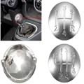 5/6 Speed Gear Shift Knob Tapa Para Renault Clio Megane Scenic Twingo Cromo