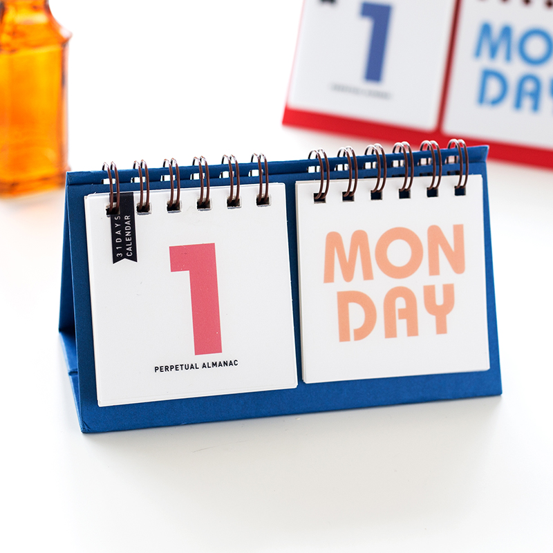 Simple 2018 nuevo escritorio Mesa Calendarios Oficina y Escuela escritorio  impresión almanaque perpetuo Calendarios bbf4d0316a46f