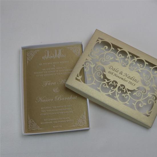 Free Personalized Luxury Customized Acrylic Wedding Invitation Cards For Free Laser Engraved