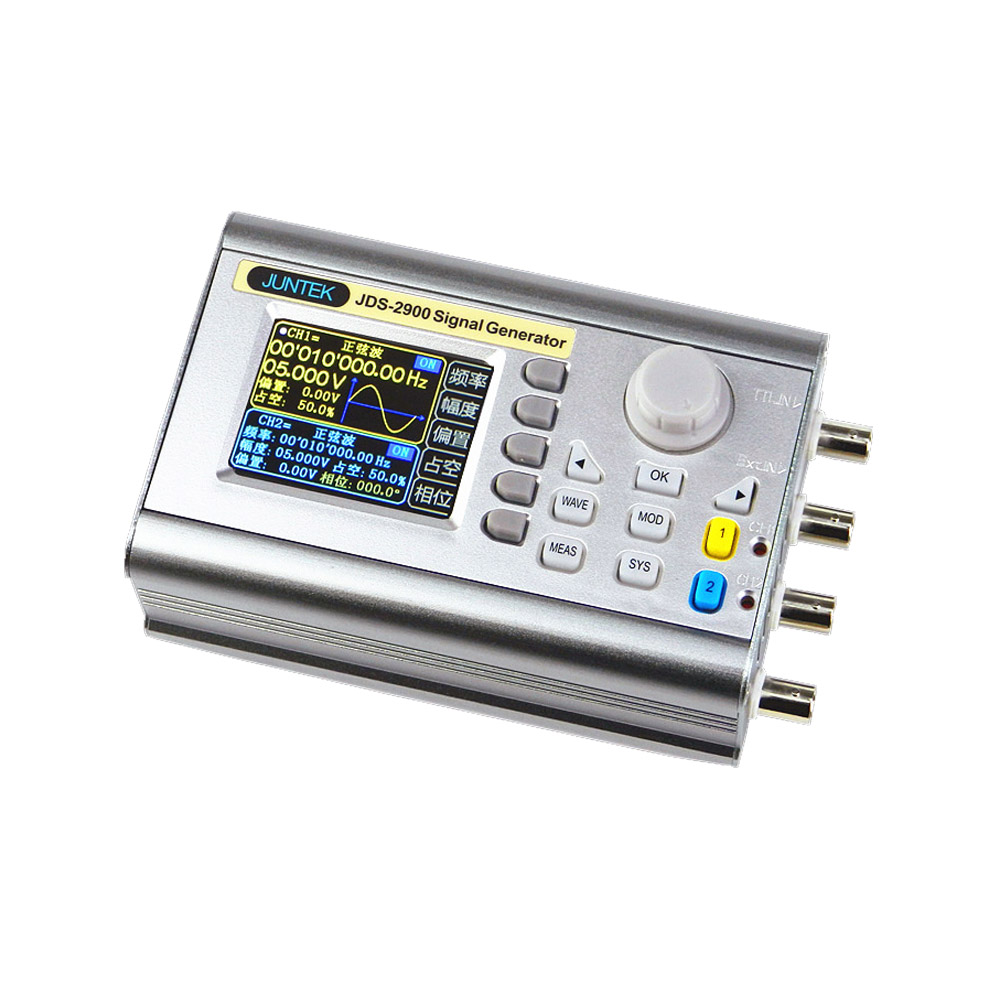 15MHZ Full CNC Signal Generator Double Channels DDS Function Arbitrary Waveform Pulse Signal Source Frequency Meter JDS2900 hantek6104bd oscilloscope 4 channels 6104bd arbitrary waveform generator 100mhz bandwidth powered by usb2 0 interface