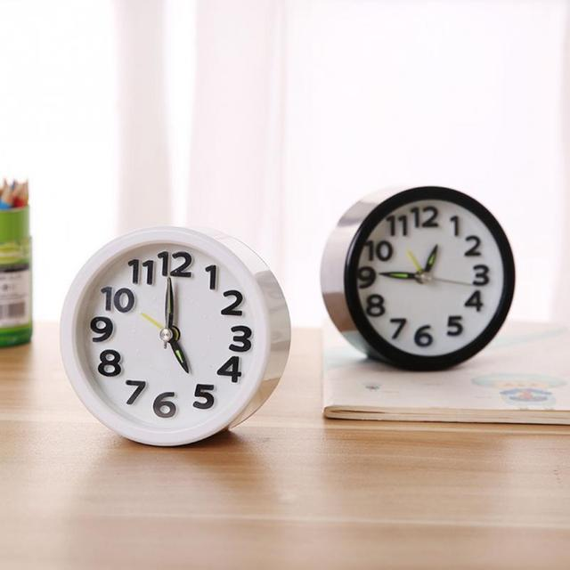 Bedroom Round/square Shape table Digital Living Room Portable Mini Multifunction Alarm Clock