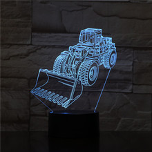 Forklift Led Night Light Decoration 3d Illusion 7 Color Changing Childrens Kids Baby Nightlight Gifts Table Lamp Bedroom Decor