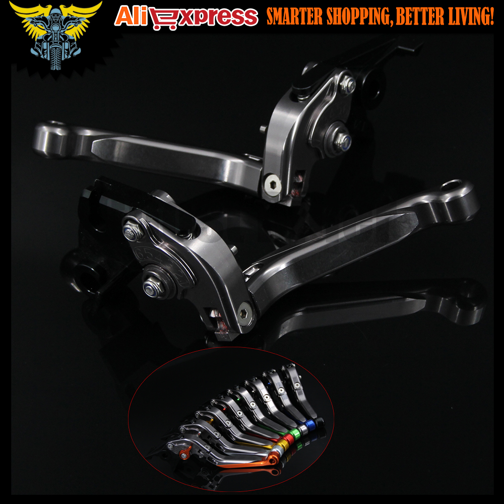 Titanium+Titanium CNC Motorcycle Brake Clutch Levers For Yamaha FZ1 FAZER 2006 2007 2008 2009 2010 2011 2012 2013 2014 2015 aftermarket free shipping motorcycle parts eliminator tidy tail for 2006 2007 2008 fz6 fazer 2007 2008b lack