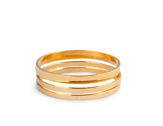 Free Shipping 2016 New Hotselling Gold Thin Shiny Rings Midi Knuckle ring For Women Jewelry