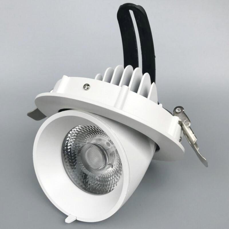 40 W COB CREE LED Downlight AC85V-265V coquille noire LED plafonnier lumière blanc froid/blanc chaud livraison gratuite