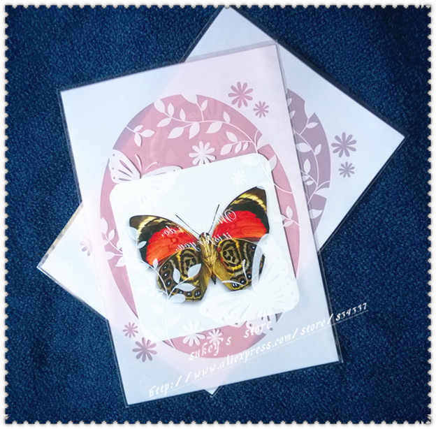 100pcs/lot Plastic bags,Pink butterfly cookie packaging bags 13x19cm free shipping