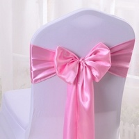 Satin Chair Sash Bow Ties For Banquet Wedding Party Butterfly Craft Chair Cover Decor Supplies Butterfly Craft Chair Cover Decor