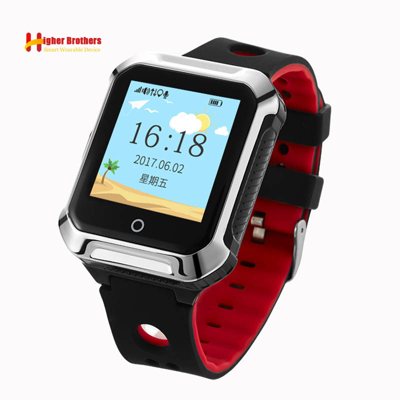цена Smart Elderly Kids Remote Heart Rate Monitor With Fall-down Alarm SOS Call Anti-lost GPS WIFI Tracking for IOS Android watch онлайн в 2017 году