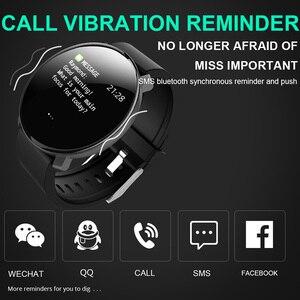 Image 4 - M31 Akıllı Erkekler nabız monitörü Izle spor fitness takip chazı Bilezik Tam Ekran Dokunmatik Çok Dilli Android IOS Için Smartwatch