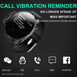 Image 4 - M31 homem inteligente monitor de freqüência cardíaca relógio esporte fitness rastreador pulseira tela cheia toque multi lingual smartwatch para android ios
